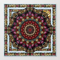 Angel Window Kaleidoscope Canvas Print