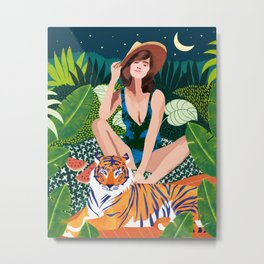 Living In The Jungle #painting #illustration Metal Print