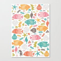Retro Fish Canvas Print