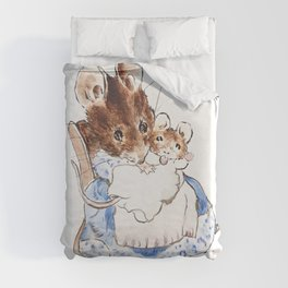 Mrs Mouse and baby Peter Rabbit  Beatrix Potter Duvet Cover