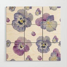 Watercolor Pansy Pattern Wood Wall Art