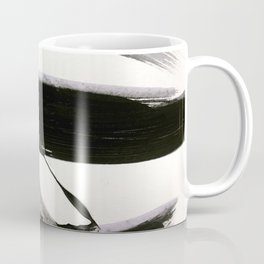 Brushstroke 9: a bold, minimal, black and white abstract piece Coffee Mug