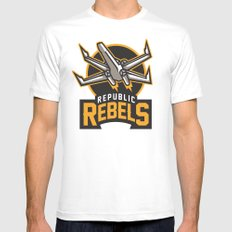 Republic Rebels Mens Fitted Tee 2X-LARGE White