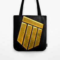 agents of shield Tote Bags featuring Shield by Emma Harckham