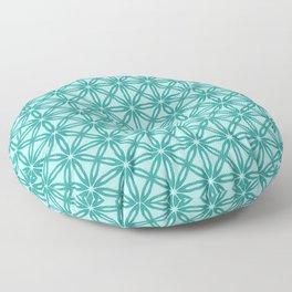 Teal Tile Pattern Floor Pillow