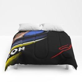 Senna Helmet Portrait Comforters