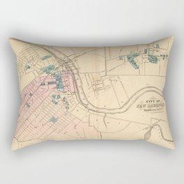 Vintage Map of New Brunswick NJ (1872) Rectangular Pillow