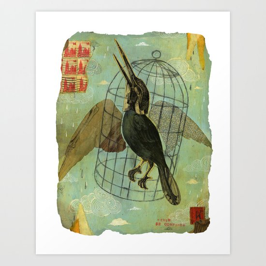 Never be Confined Art Print