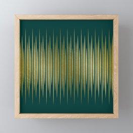 Linear Gold & Emerald Framed Mini Art Print
