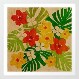 Limahuli Garden Hawaiian Floral Design Art Print