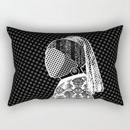 Vermeer, der Perlenohrring und das Muster Rectangular Pillow