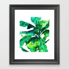 Banana Leaves #society6 #decor #buyart Framed Art Print