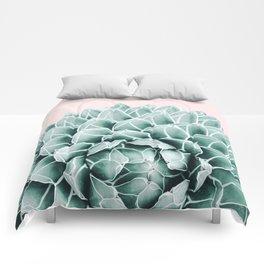 Succulent splendour - blush Comforters