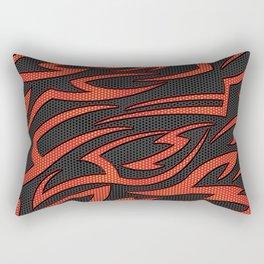 Tech Tribal ORANGE Rectangular Pillow