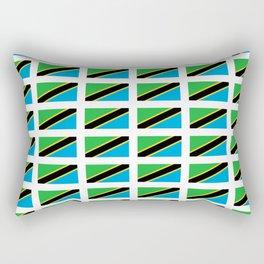 Flag of tanzania -Tanzania,Tanzanian,swahili,Dar es salam,Mwanza,Dodoma,Ngorongoro Rectangular Pillow
