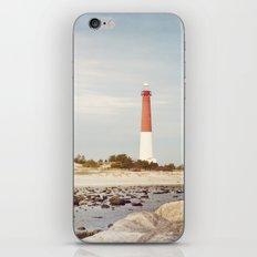 Barnegat Lighthouse Long Beach Island New Jersey Shore, Old Barney Light house LBI iPhone & iPod Skin