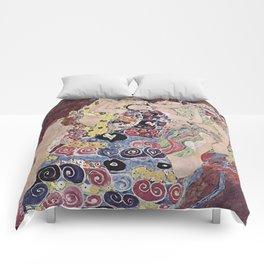 THE VIRGINS - GUSTAV KLIMT Comforters