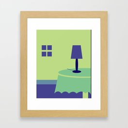A House at Night Framed Art Print