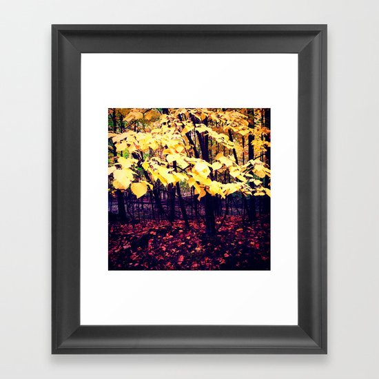 Under The Shade Of Yellow Framed Art Print