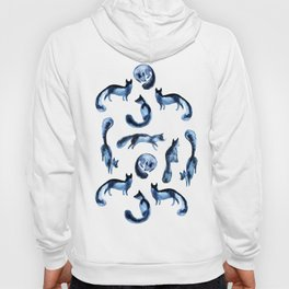 A pack of silver foxes. Hoody