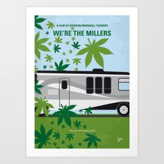 No763 My We are the Millers minimal movie poster Art Print