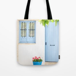 Blue and light Tote Bag