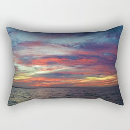 Fall sunset above Lake St. Clair, Canada Rectangular Pillow