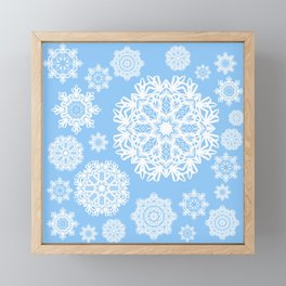 Winterland Blue Framed Mini Art Print