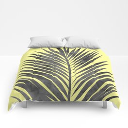 Tropical and yellow Comforters
