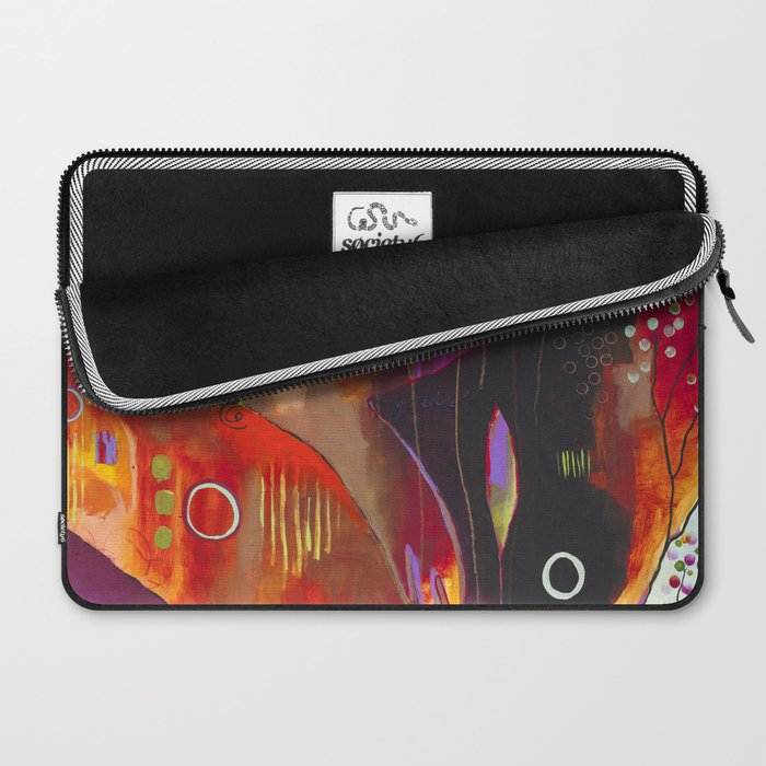 """""""Reflect You"""" Original Painting by Flora Bowley Laptop Sleeve"""