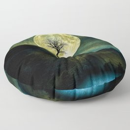 The Moon and the Tree. Floor Pillow