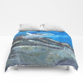 Cloudy Mountaintop Comforters