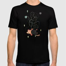 Playing MEDIUM Mens Fitted Tee Black