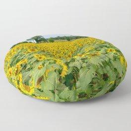 Field of Yellow Floor Pillow