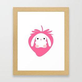 Mei the Strawberry Rabbit Framed Art Print