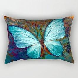 The Blue butterfly Rectangular Pillow