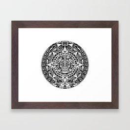 Mayan Calendar Framed Art Print