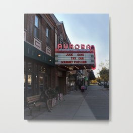 Village Theatre Marquis Metal Print