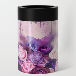 Vintag Bicycle and Flowers Can Cooler