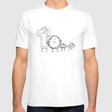 Donuts MEDIUM Mens Fitted Tee White