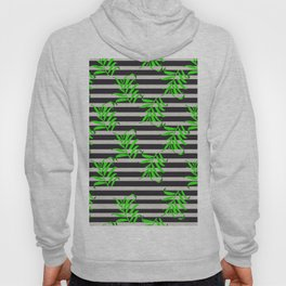 Beautiful seamless vector floral pattern background with tropical palm leaves Hoody