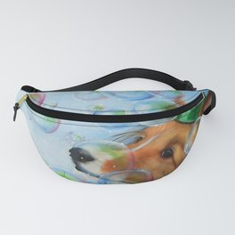 Party Girl Sheltie Dog Painting Fanny Pack