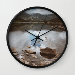 Mountain Lake - Landscape and Nature Photography Wall Clock