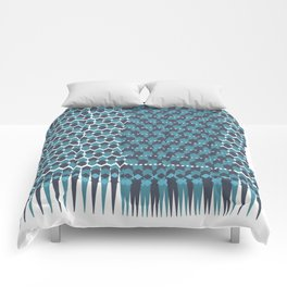 Cubist Ornament Pattern Comforters