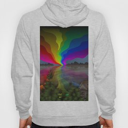 Abstract Rainbow Landscape Hoody