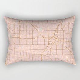 Pink and gold Las Vegas map Rectangular Pillow