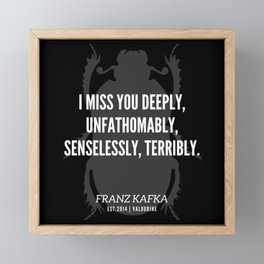 42   |  Franz Kafka Quotes | 190517 Framed Mini Art Print