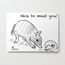 Nice to Meet You Metal Print