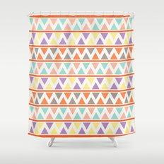 Triangulate 2 / Summer Bliss Shower Curtain