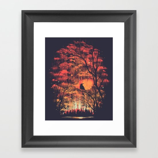 Burning In The Skies Framed Art Print